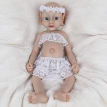 Vollence 18 inch Elf Full Silicone Reborn Baby Doll That Look Real Angel Realistic Baby Doll,Lifelike Newborn Baby Dol,Cute Toys Gift for Children