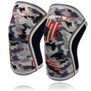 Knee Sleeves (1 pair), 7mm Thick Compression Knee Braces Offer Perfect Support for Squats Weightlifting,Powerlifting,Crossfit,Cross Training WOD for Men & Women (X-Large, Grey Camo+)