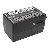 Tripp Lite 600VA UPS Desktop Battery Back Up, 8 Outlet, 300W 120V Standby, Ultra-Compact, USB, 3 Year Warranty & $100,000 Insurance (INTERNET600U)