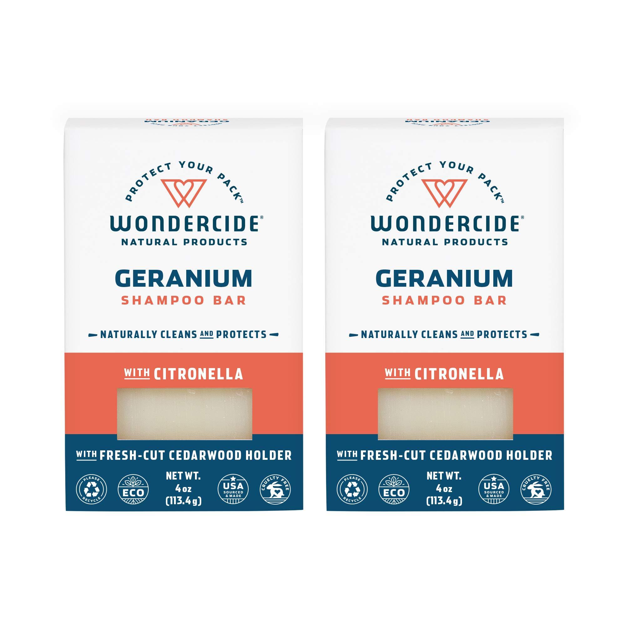 Wondercide Natural Flea & Tick Shampoo Bar for Dogs & Cats — Kills & Repels Fleas — Geranium 4oz Bar