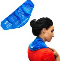 Ice Pack Gel Wrap for Hot & Cold Therapy Pain Relief with Straps - Fits Any Body Parts - Flexible After Frozen - Reusable - Back, Shoulders, Neck, Waist, Wrist, Arms, Ankle, Calves - Men, Women