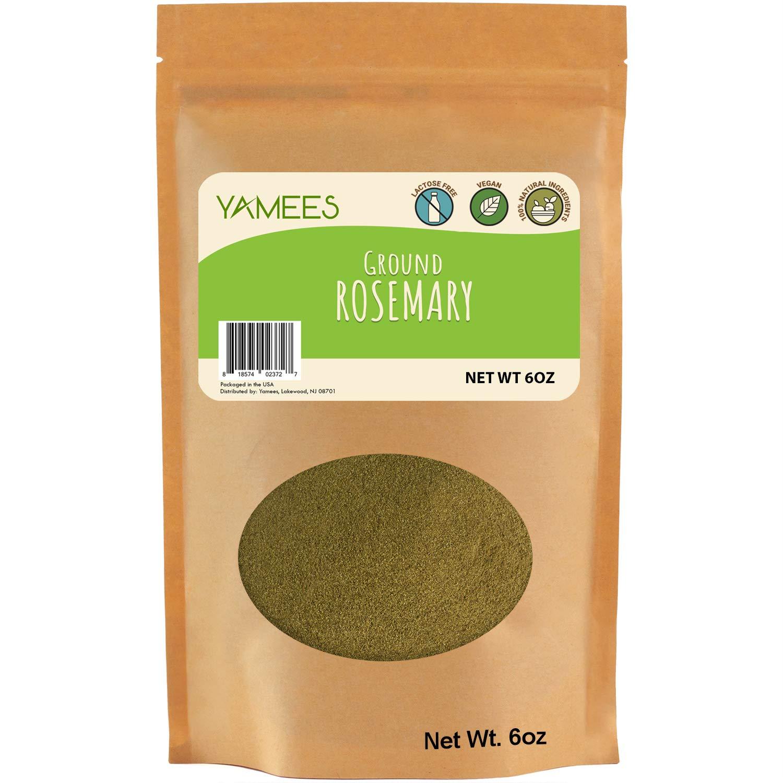 YAMEES Rosemary Powder – Ground Rosemary – Dried Rosemary Powder – Powder Rosemary – Bulk Spices - 6 Ounce Bag - Rosemary Ground