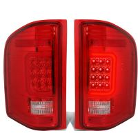 DNA Motoring Chrome Red TL-CSIL07-LED-3D-CH-RD 3D LED Tail Light Assembly [07-13 Chevy Silverado]