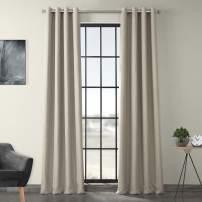 HPD Half Price Drapes BOCH-LN1857-108-GR Faux Linen Grommet Blackout Room Darkening Curtain (1 Panel), 50 X 108, Oatmeal