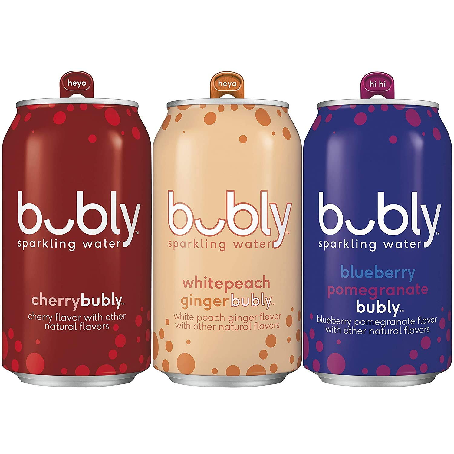 bubly Sparkling Water, Red White & Blue Variety Pack, 12 fl oz Cans (18 Pack), 1 Pack