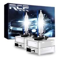 RCP - D1S8 - (A Pair) D1S/ D1R 8000K Xenon HID Replacement Bulb Ice Blue Metal Stents Base 12V Car Headlight Lamps Head Lights 35W