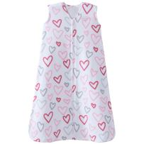 Halo 100% Cotton Sleepsack Wearable Blanket, Modern Pink Hearts, Large
