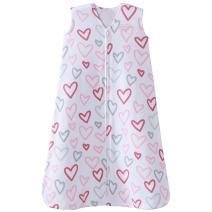 Halo 100% Cotton Sleepsack Wearable Blanket, Modern Pink Hearts, Large