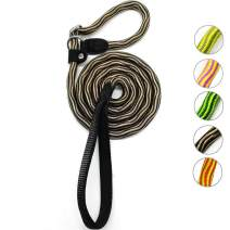 MayPaw Rope Slip Lead Dog Leash, 5 Ft Heavy Duty Nylon Training Leash with Soft Handle Small Medium Large Dog Lead Leash