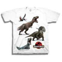 Jurassic Toddler World Dinosaur Shirt Park Tee Featuring T-Rex, Velociraptor, and Dinosaurs