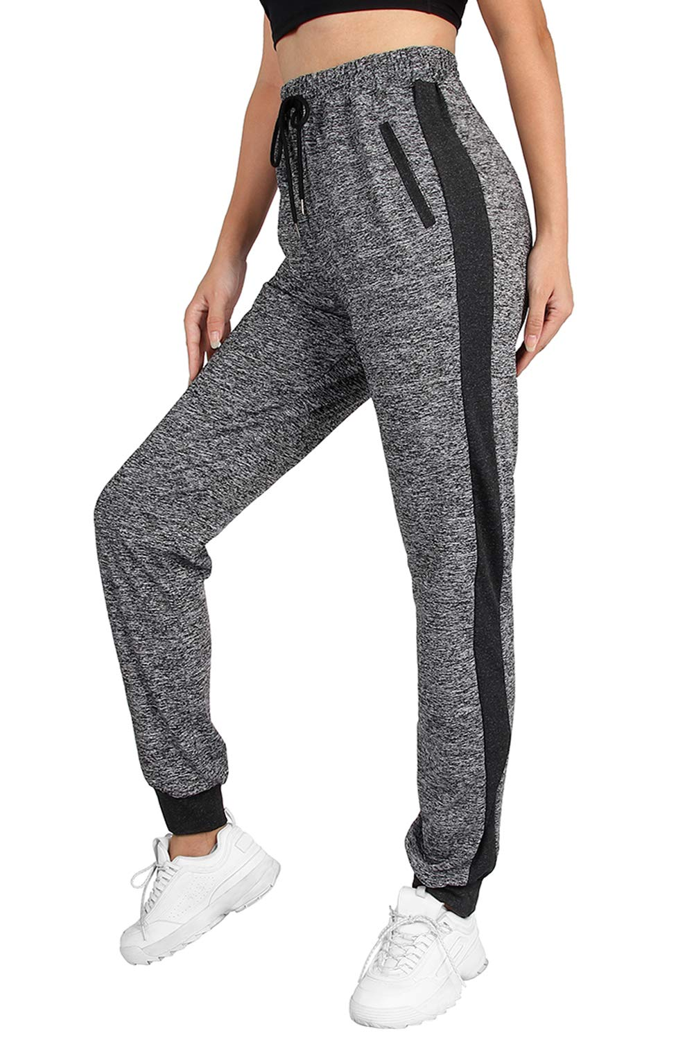 onlypuff Women's Athletic Running Sweatpants Workout Joggers Pants Drawstring High Waist with Pockets