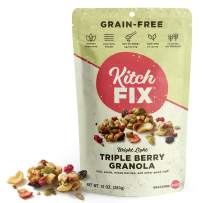Gluten-Free, Low Sugar, Low Carb Granola by Kitchfix | Grain-Free | Paleo | Vegan Plant-Based Protein | Triple Berry 10oz