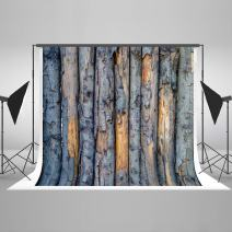 8ft(W) x8ft(H) Tree Trunk Backdrop Pealing Rough Wooden Background Wood Photo Studio Props for Photography Fabric Seamless No Wrinkles