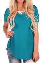 iGENJUN Women's Short Sleeve V-Neck Loose Casual Summer Tee T-Shirt Tops