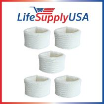 LifeSupplyUSA 5 Pack Replacement Wick Air Filter Compatible with Philips HU4102/20 Humidifier 2000 Series