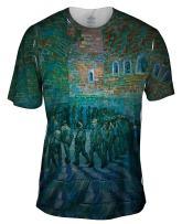 Yizzam- Vincent Van Gogh - The Prison Courtyard (1890) -Tshirt- Mens Shirt