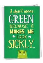 NobleWorks, Don't Wear Green - Funny Greeting Card for St Patricks Day - Beer Joke Humor, Saint Pattys Day Card C3144SPG