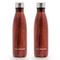 Swissbrand Insulated Reusable Water Bottle – Keeps Beverages HOT or Cold for 24 Hours, 17 oz. in 1 Pack, 2 Pack, 3 Pack