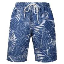 QBSM Men's Quick Dry Swim Trunks Beach Board Shorts Bathing Suits with Mesh Lining