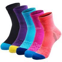 Veatree 5 Pairs Women Cushioned Moisture Wicking Socks for Hiking Trekking Running Camping Outdoor