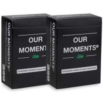 OUR MOMENTS Kids (Bundle of 2): 100 Thought Provoking Conversation Starters for Great Parent-Child Relationship Building - Fun Car Travel, Road Trip Card Questions Game for Healthy Family Development