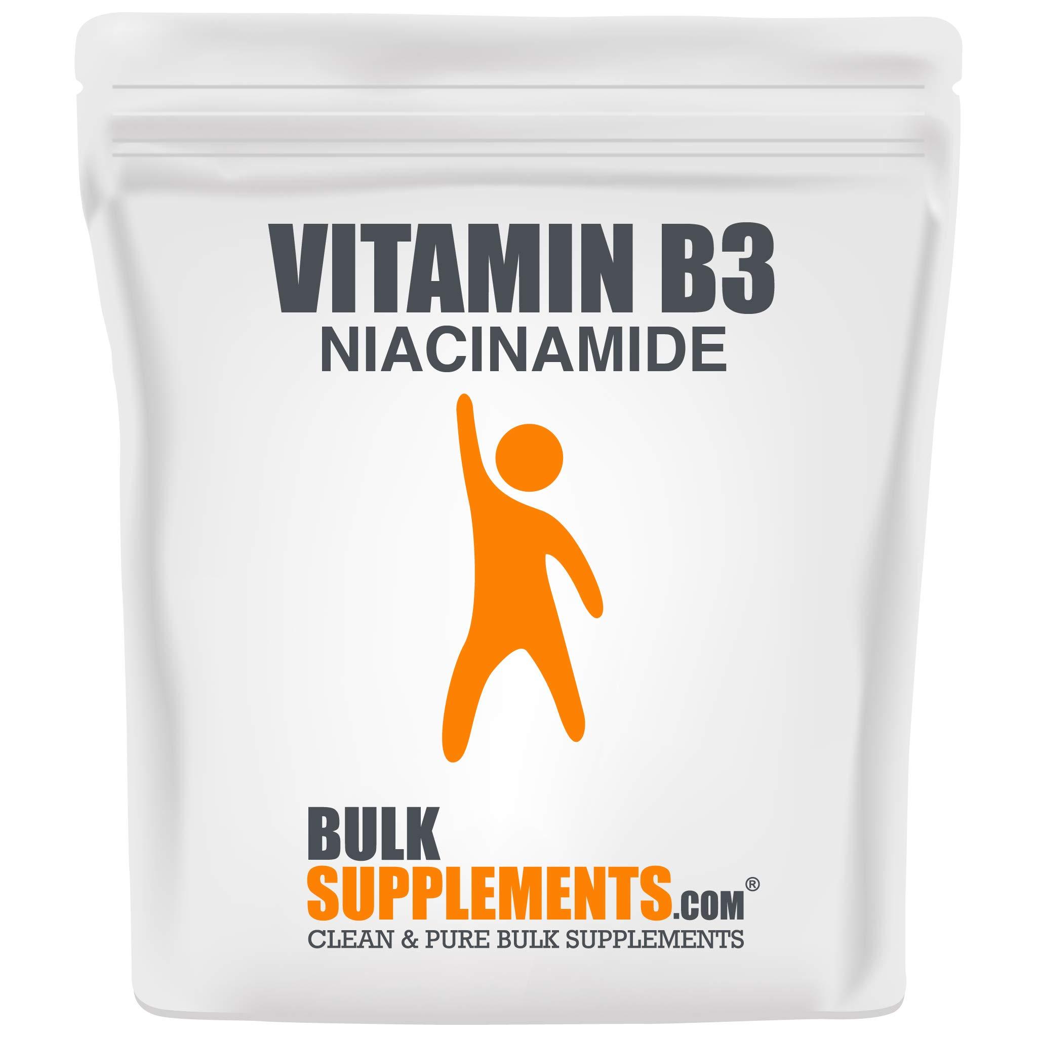 BulkSupplements Vitamin B3 (Niacinamide Powder) Powder (500 Grams)