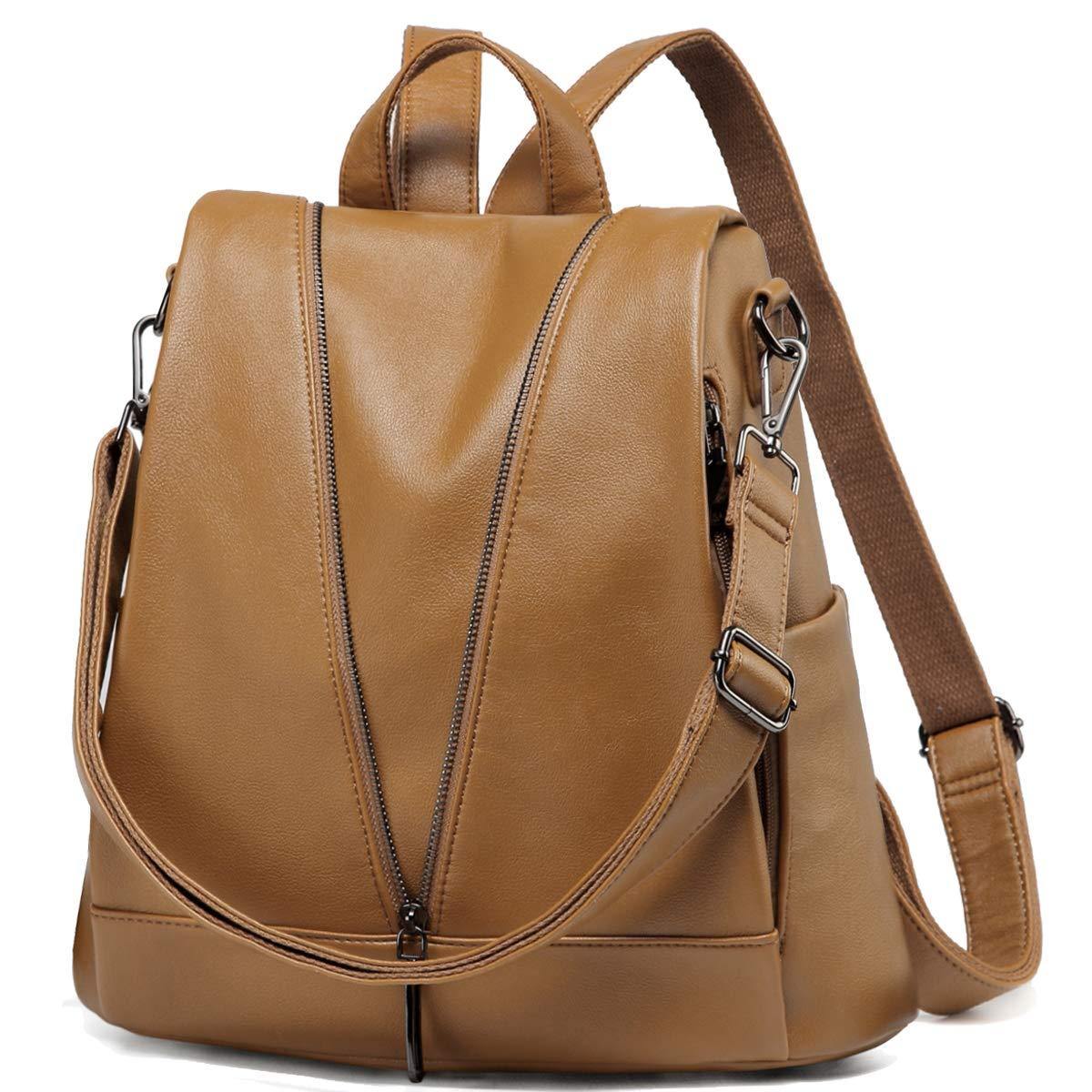 Women Backpack Purse,Kasqo Anti-theft PU Leather Fashion Shoulder Bag Travel Girls Rucksack