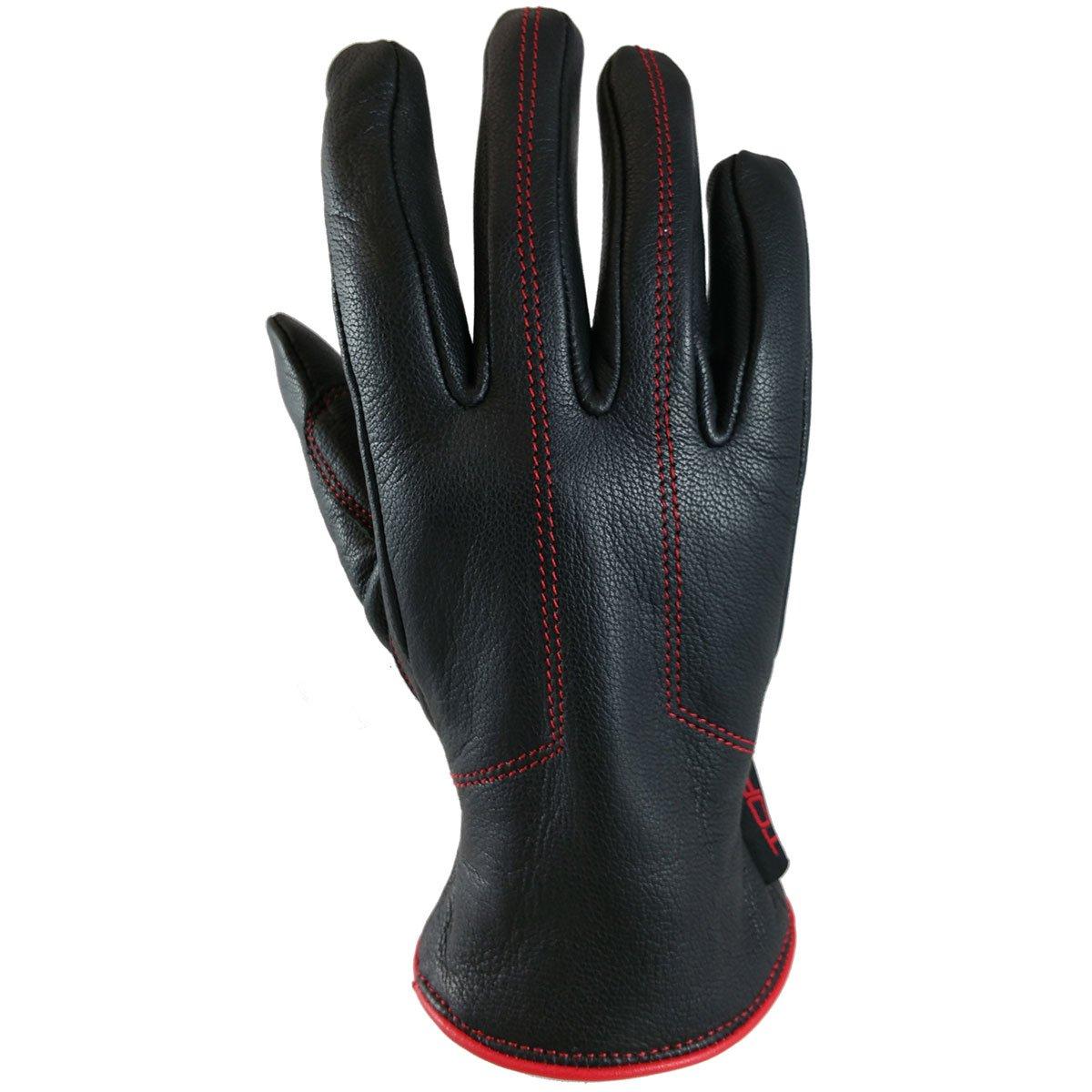 TORC Women Motorcycle Gloves Santa Monica (Red, Large)