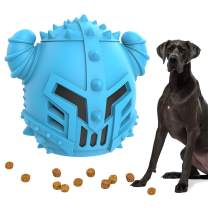 Dog Treat Toys Slow Feeder - Aggressive Dog Chew Toy Interactive Puzzle Toy, Durable Stimulating Food Dispenser Dog Teething Toy for Large Breed & Medium Dogs