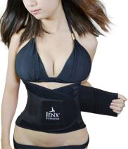Jenx Fitness Unisex Waist Trimmer, Black,  Small