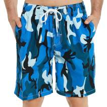 KAILUA SURF Mens Swim Trunks Long, Quick Dry Mens Boardshorts, 9 Inches Inseam Mens Bathing Suits with Mesh Lining