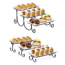 SRIWATANA Tiered Cake Stand Bundle, 3 Tier Dessert Stand Serving Platter Tray for Cupcake, Food, Fruit Display