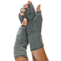 IMAK Compression Active Gloves, Large – Arthritis, Fibromyalgia, Neuropathy, Joint Pain, & Rheumatoid Support – Fingerless Compression Gloves - All Day Support