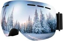 Scoteep Ski Goggles - OTG Snowboard Goggles - Snow Goggles with Anti-Fog UV Protection Double Lens for Men, Women & Youth