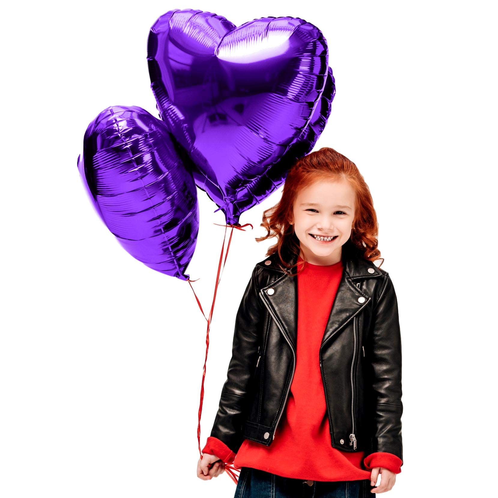 Treasures Gifted Mothers Day Heart Love Decorations in Violet Purple Foil Mylar Balloons for Birthday Bridal Shower Wedding Engagement Party Graduation Supplies (6 Pack)