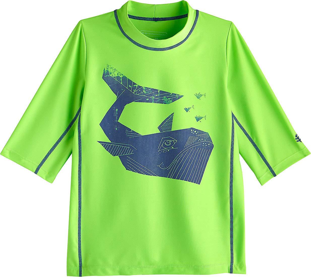 Coolibar UPF 50+ Kid's Sandshark Short Sleeve Surf Shirt - Sun Protective