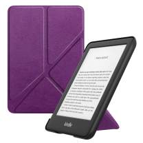 MoKo Case Fits All-New Kindle (10th Generation - 2019 Release Only), Standing Origami Shell Cover with Auto Wake/Sleep, Will Not Fit Kindle Paperwhite 10th Generation 2018 - Purple