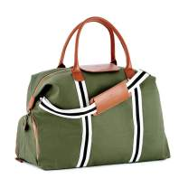 Saint Maniero Unisex Large Duffel Bag Water-Repellent and Hand Luggage Compliant with Shoe Compartment 21.6 x 11.8 x 9.8 inches 41 Liters Olive-Green