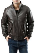 Landing Leathers Men's WWII Lambskin Leather Bomber Jacket (Regular and Big & Tall Sizes)