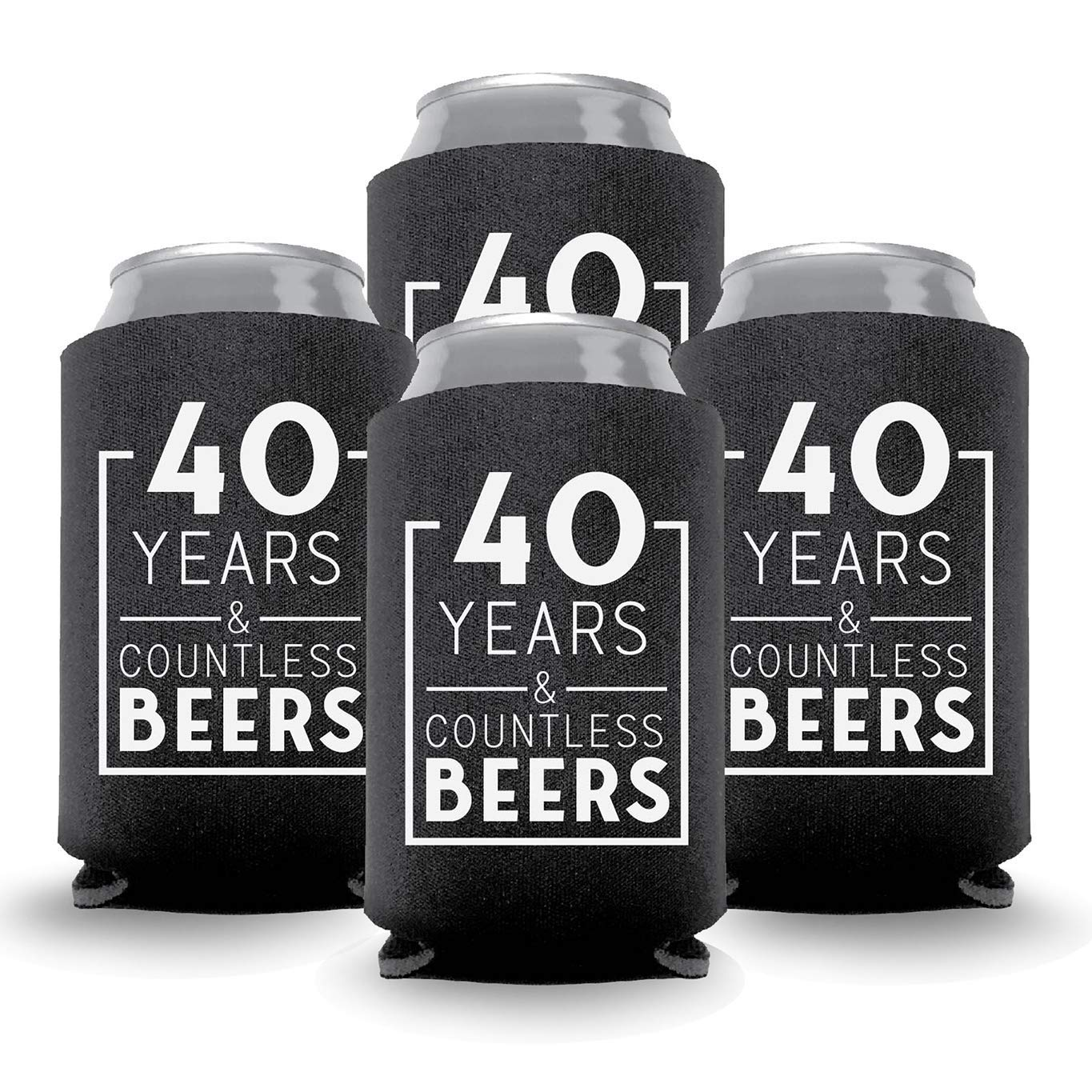 Coolies Can Coolers Collapsible Beer Soft Drinks Bottle Soda Slim Sleeves Durable Insulators Premium Quality for Birthday Parties 40 Y&CB Black Set of 12