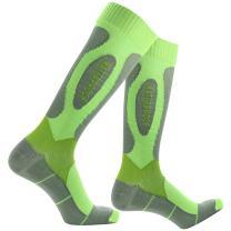 Winter Holiday Gift Waterproof Socks, [SGS Certified]RANDY SUN Men's Classic Golf Athletic Cycling Hunting Fishing Running Socks Green&Grey S