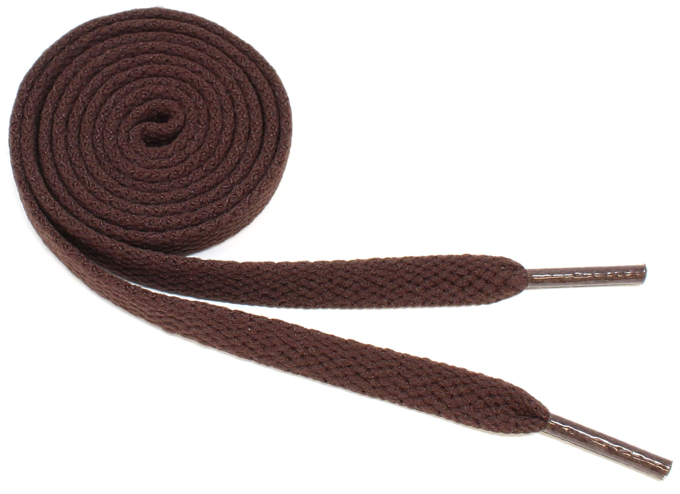 """Flat Shoelaces 5/16"""" Wide Solid Colors Several Lengths For Sneakers and Shoes"""