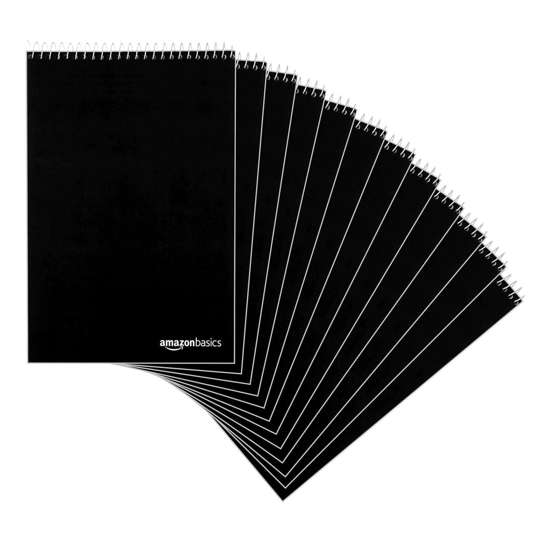 "AmazonBasics Steno Books, 6"" x 9"", Gregg Rule, Green Paper, 80 Sheets, 12-Pack"