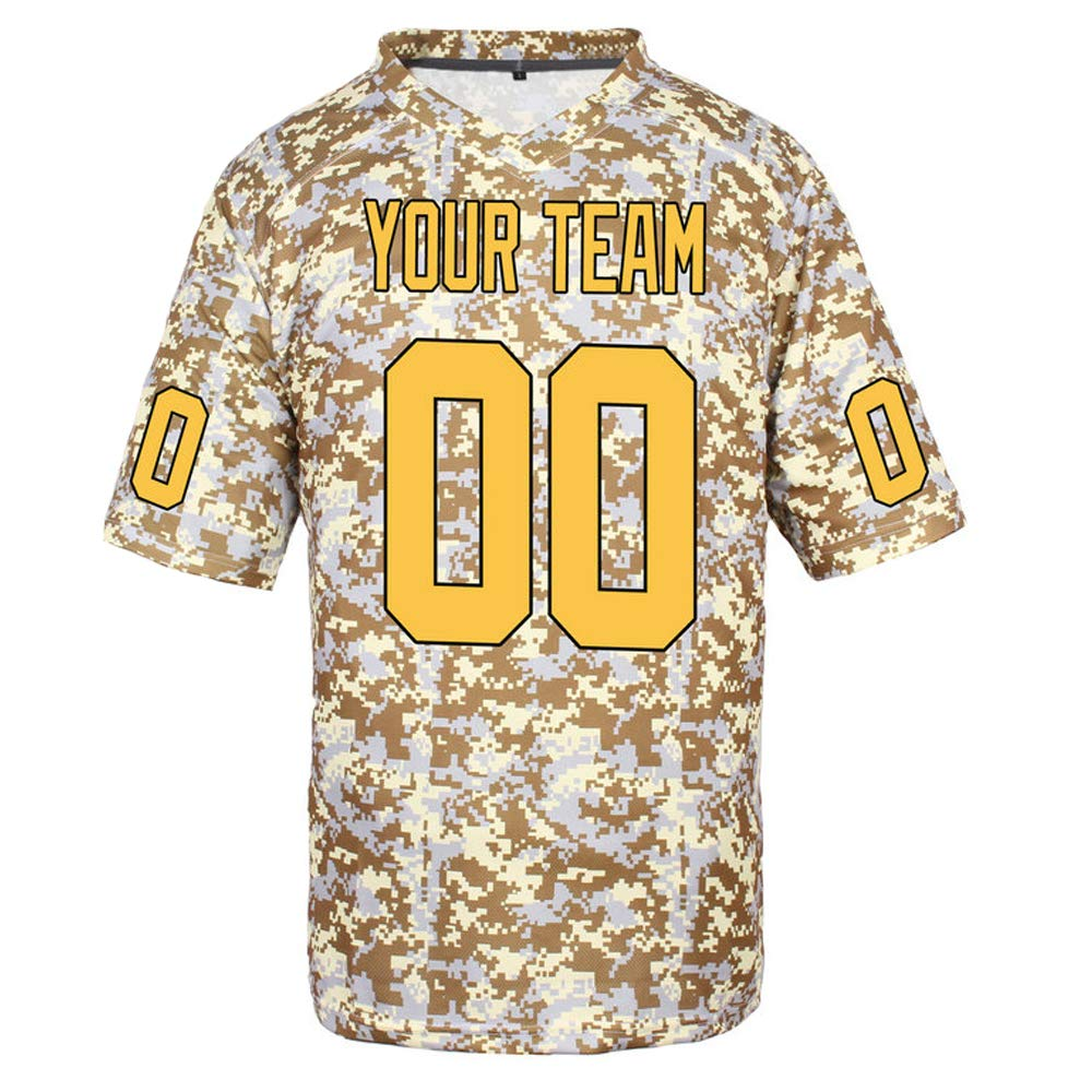 Pullonsy Custom Football Jerseys for Men Women Youth Stitched Camo Salute to Service S-8XL Design Your Own