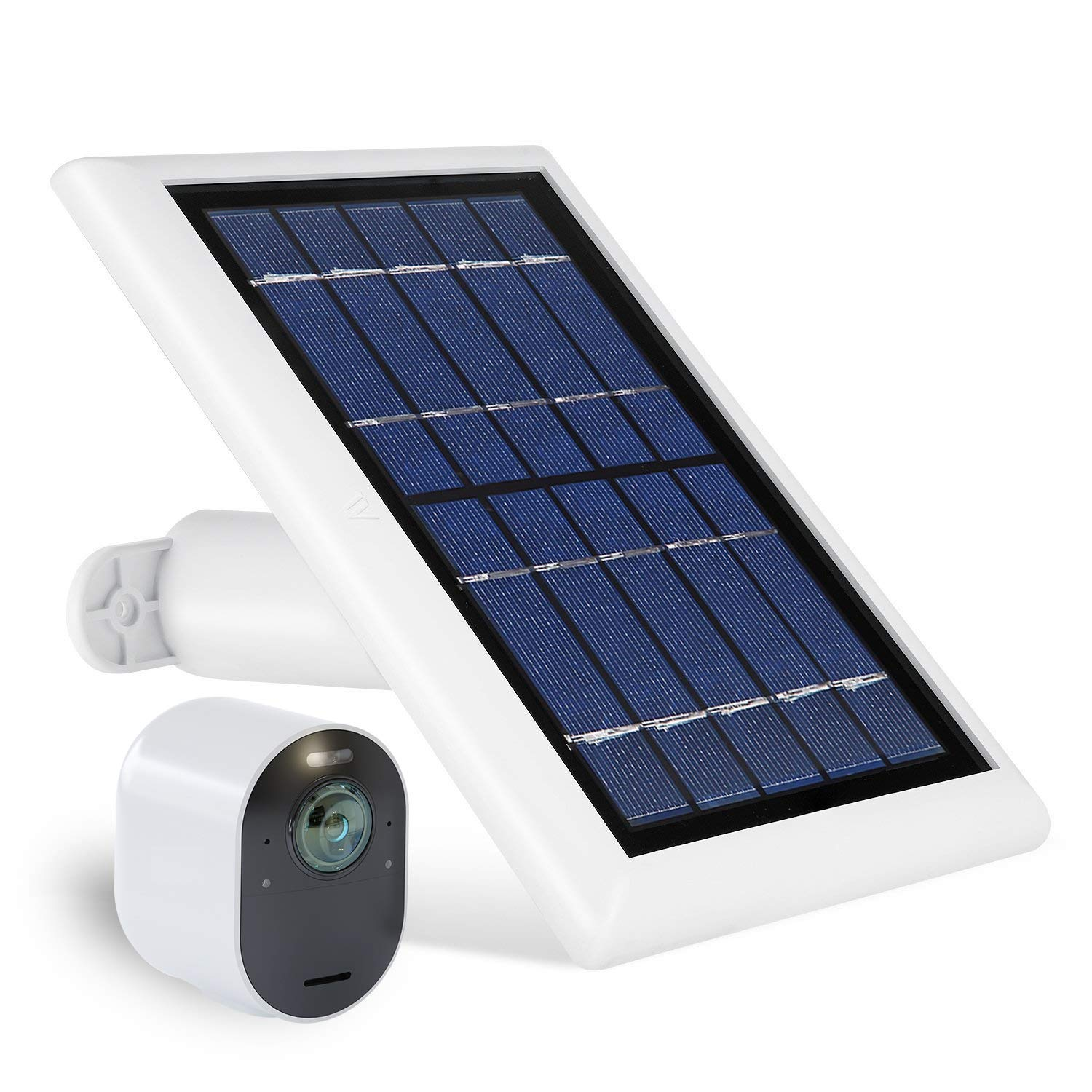 Wasserstein Solar Panel with 13.1ft/4m Cable Compatible with Arlo Ultra & Arlo Pro 3 ONLY - Power Your Arlo Surveillance Camera continuously (1-Pack, White) (NOT Compatible with Arlo Pro/Pro2)