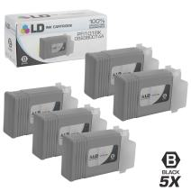LD Compatible Ink Cartridge Replacements for Canon PFI-101Bk 0883B001AA (Black, 5-Pack)
