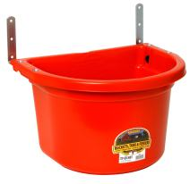 Little Giant Plastic Fence Feeder Heavy Duty Mountable Feed Bucket for Livestock & Pets