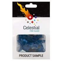 Celestial Fire Glass - Neptune Blue - 1/2 Inch Reflective Tempered Fire Glass – 2 oz. Sample
