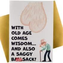 Luxury Funny Happy Birthday Card for Husband, Father, Brother, Boyfriend, Men, Son, Dad, Grandpa, Old Man Dirty Joke 21st 30th 40th 50th 60th 70th Premium