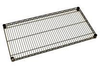 "Metro 1424NBL Super Erecta Steel Industrial Wire Shelf, 800 lb. Capacity, 1"" Height x 24"" Width x 14"" Depth, Black (Pack of 4)"